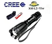 LED手電筒 T6-01 超亮 10w白光  (附18650鋰電池+充電器)
